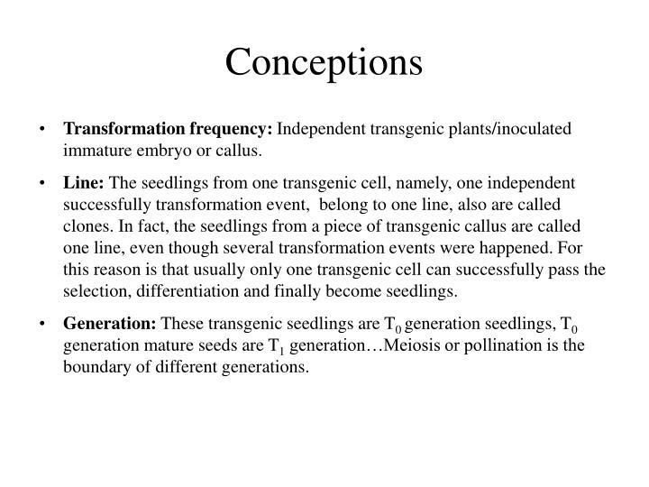 Conceptions