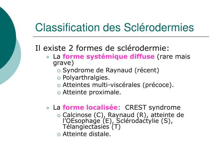 Classification des Sclérodermies