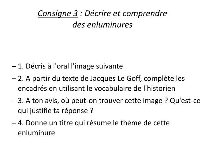 Consigne 3