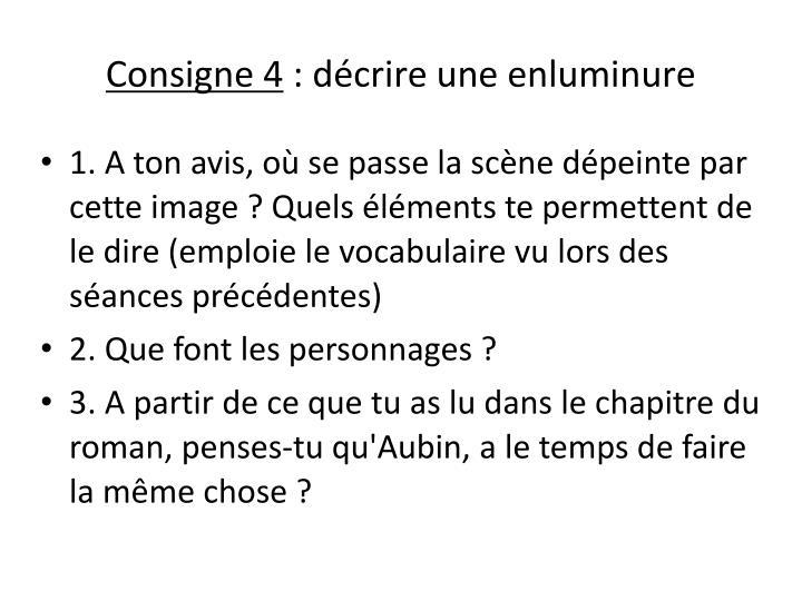 Consigne 4