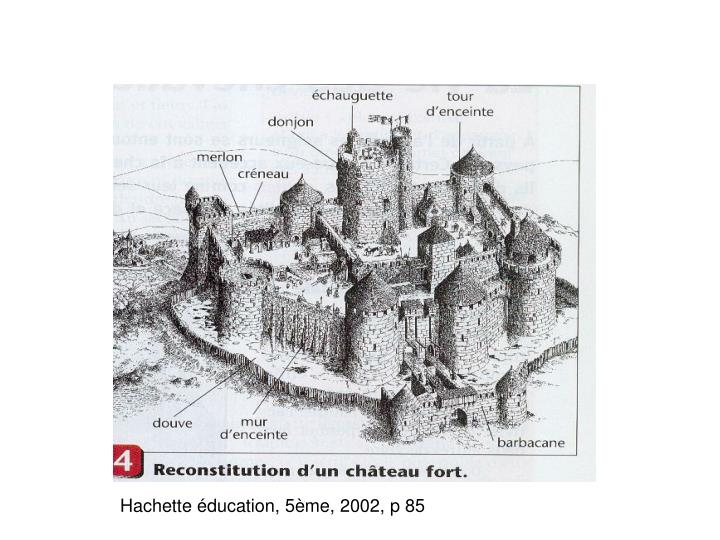 Hachette éducation, 5ème, 2002, p 85