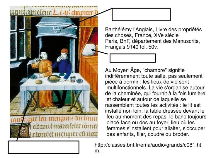 Barthélémy l'Anglais, Livre des propriétés