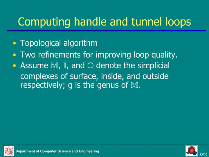 Computing handle and tunnel loops
