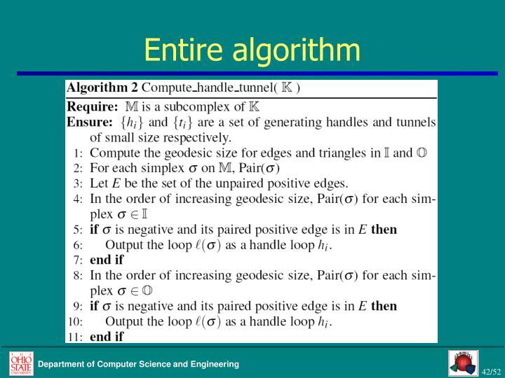 Entire algorithm