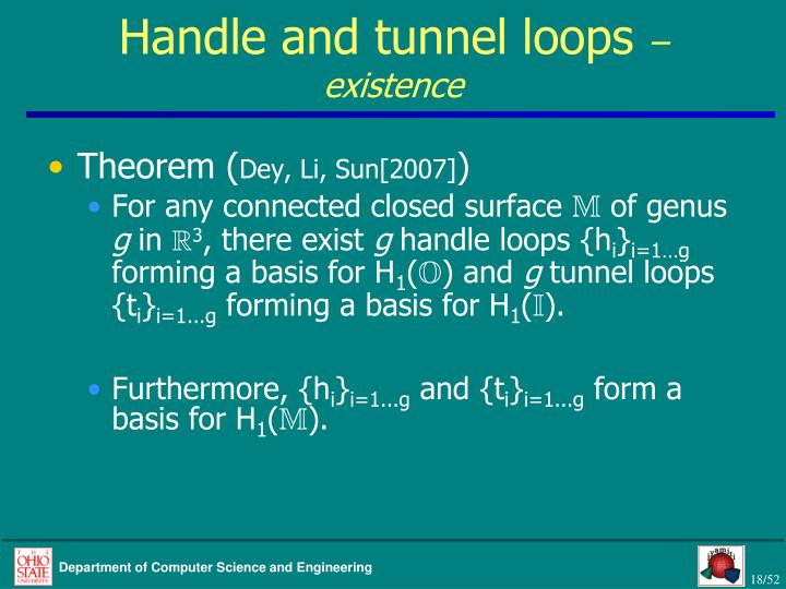 Handle and tunnel loops