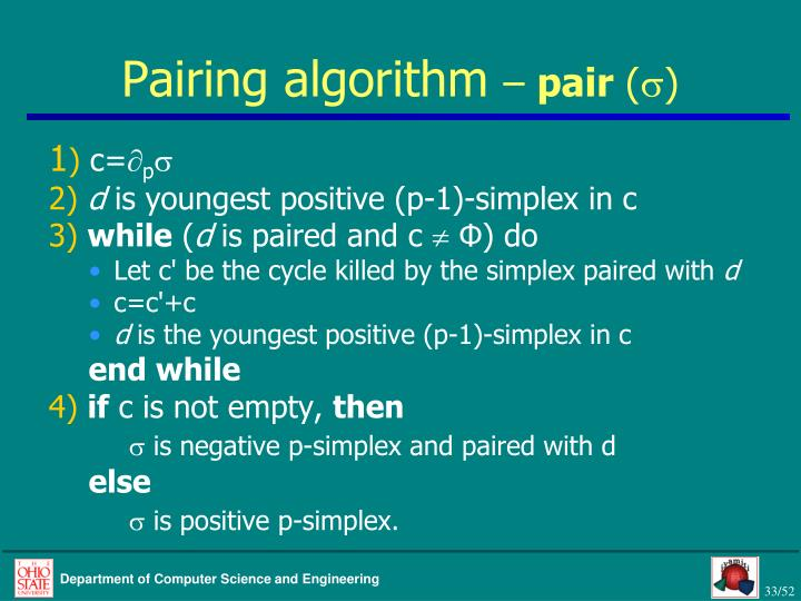 Pairing algorithm