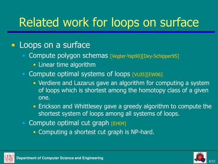 Related work for loops on surface