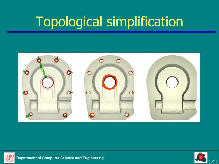 Topological simplification