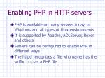 enabling php in http servers