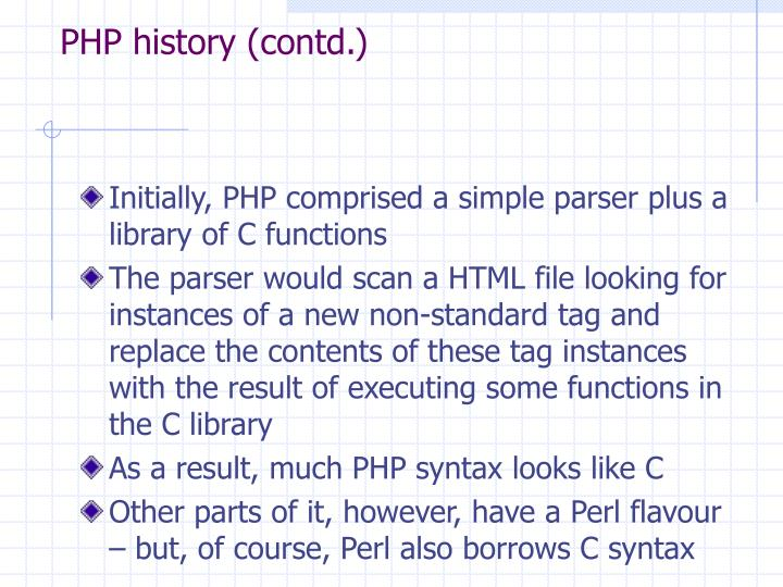 PHP history (contd.)