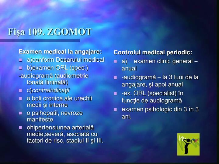 Examen medical la angajare:
