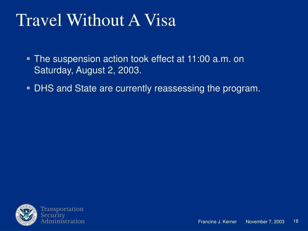 Travel Without A Visa
