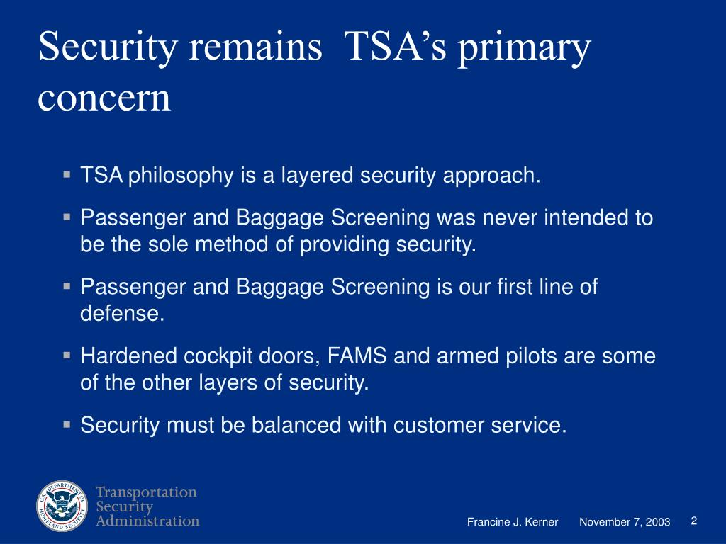 Security remains  TSA's primary concern
