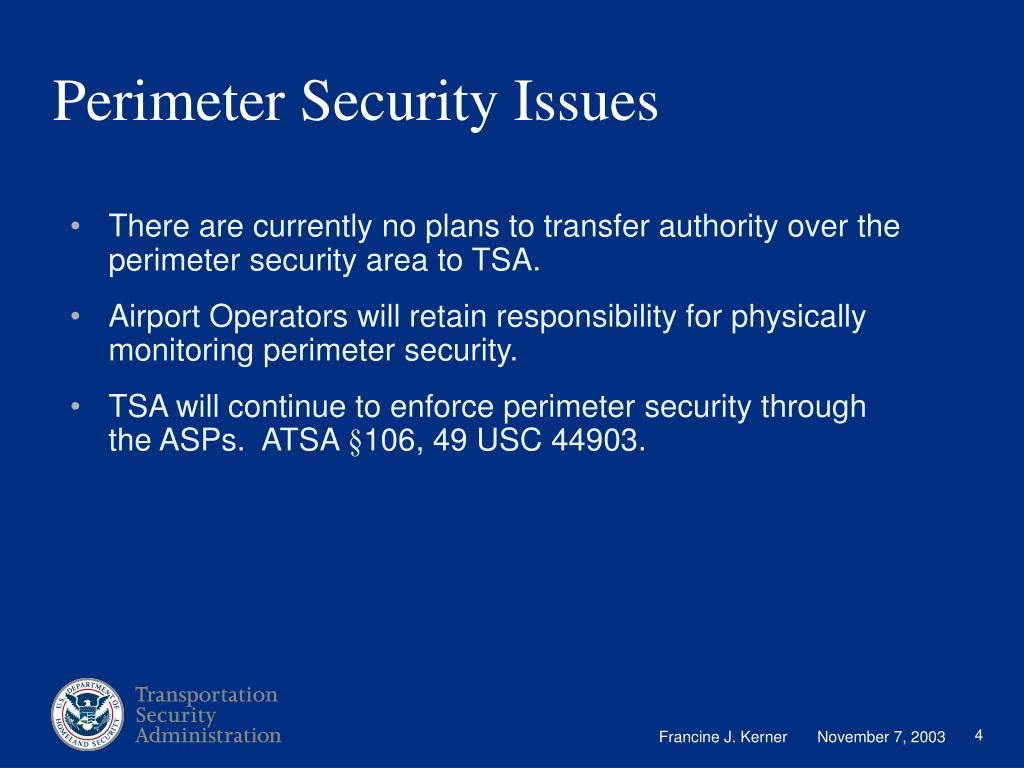 Perimeter Security Issues