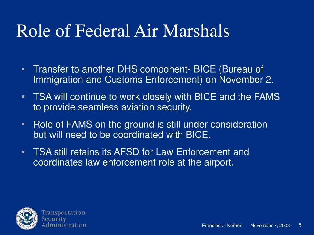 Role of Federal Air Marshals