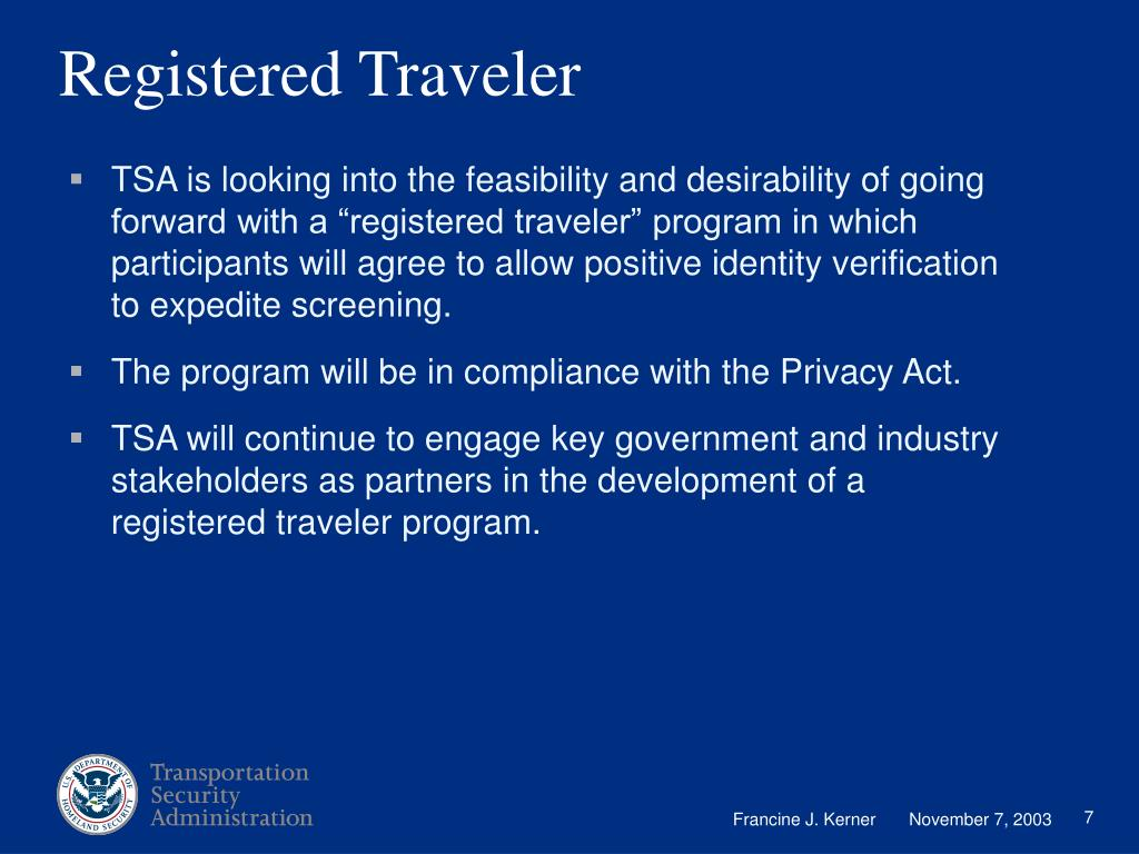 Registered Traveler