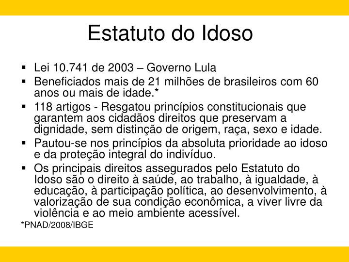 Estatuto do idoso