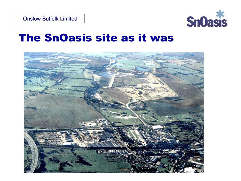 The SnOasis site as it was