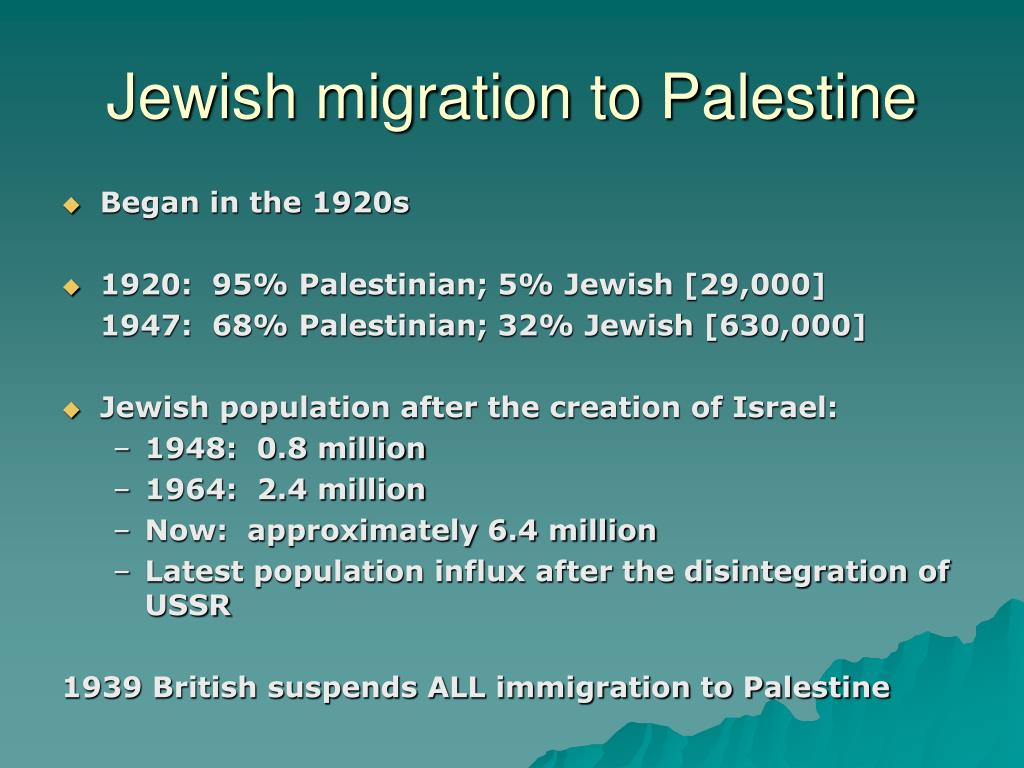 Jewish migration to Palestine