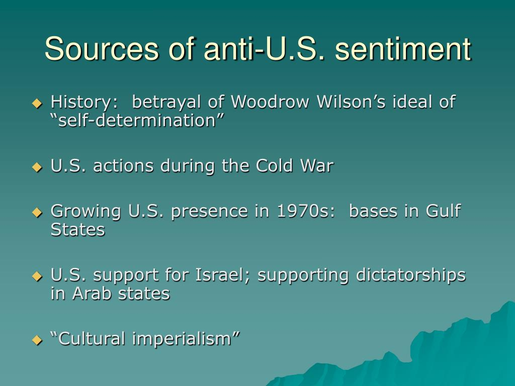 Sources of anti-U.S. sentiment