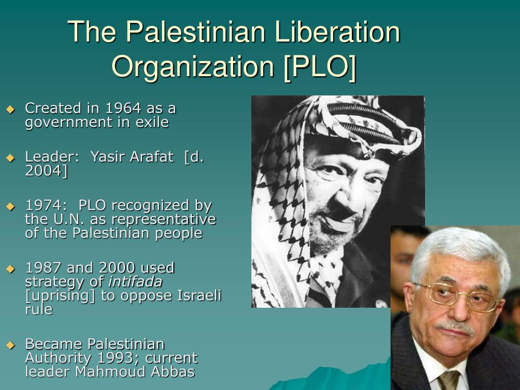 The Palestinian Liberation Organization [PLO]