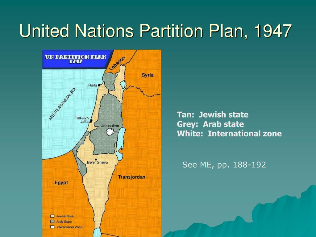 United Nations Partition Plan, 1947