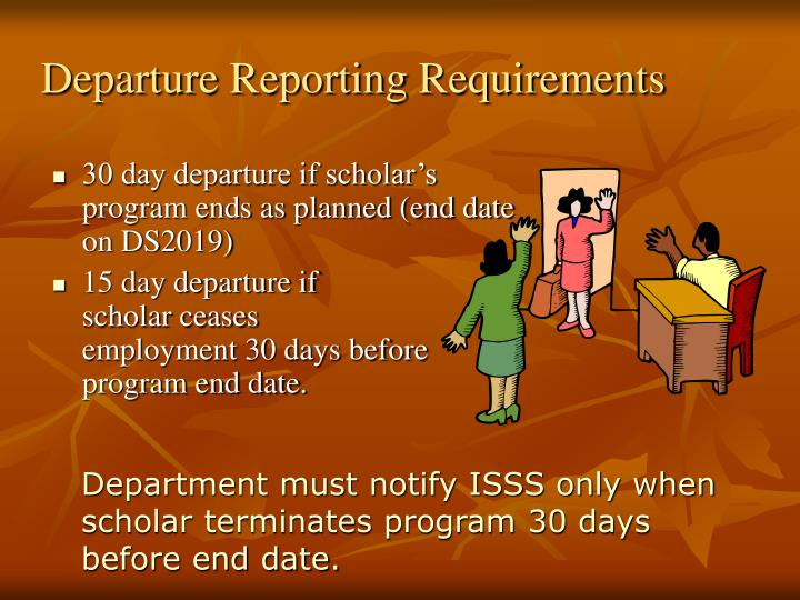 Departure Reporting Requirements