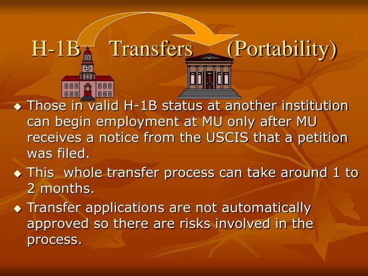 H-1B     Transfers      (Portability)