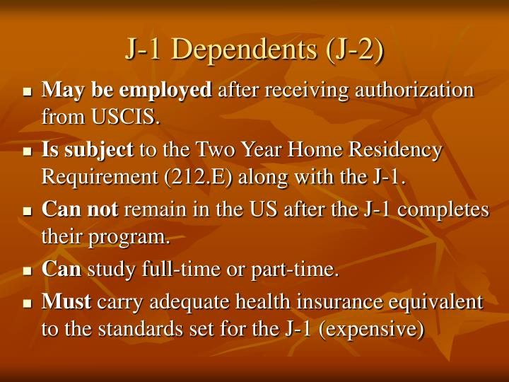 J-1 Dependents (J-2)