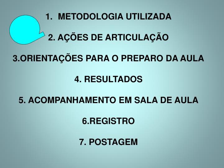 METODOLOGIA UTILIZADA