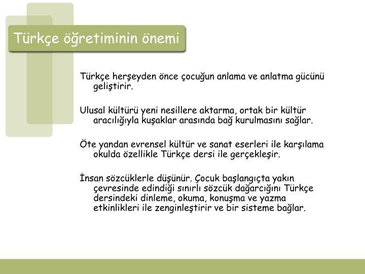 Türkçe öğretiminin önemi