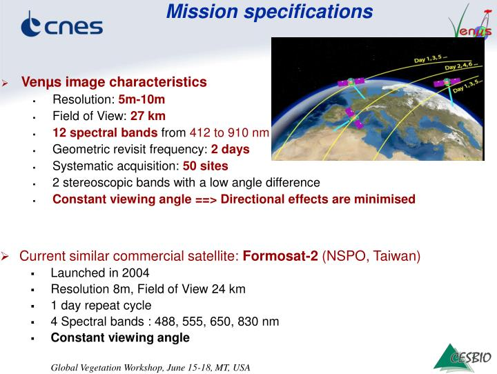 Mission specifications