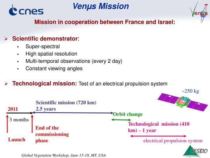 Scientific mission (720 km)