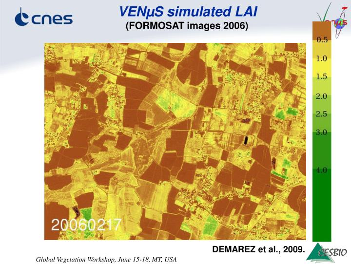 VENµS simulated LAI