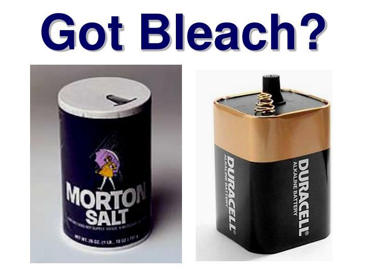 Got Bleach?