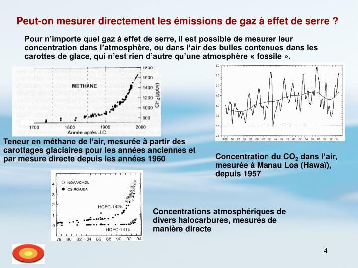 Peut-on mesurer directement les émissions de gaz à effet de serre ?