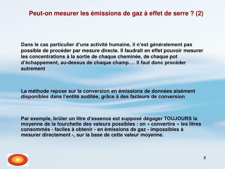 Peut-on mesurer les émissions de gaz à effet de serre ? (2)