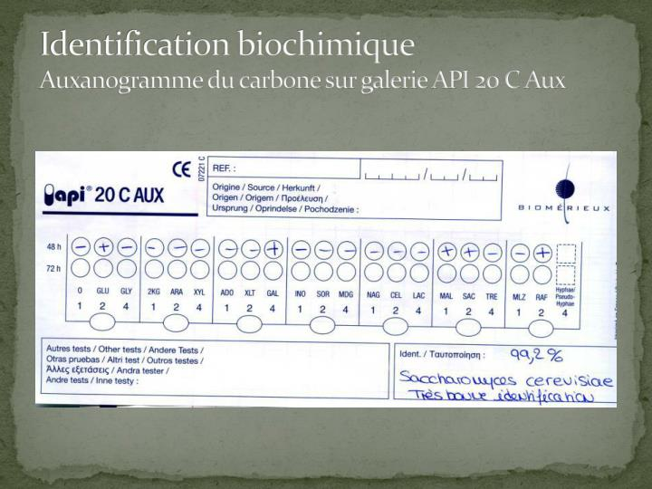 Identification biochimique