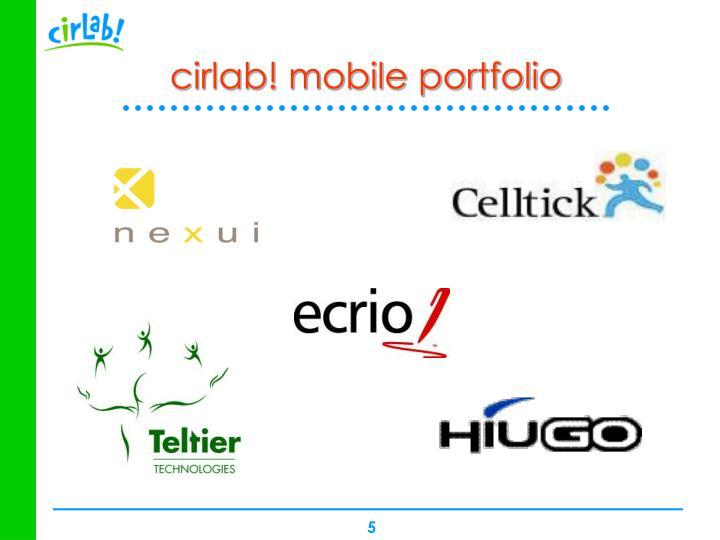 cirlab! mobile portfolio