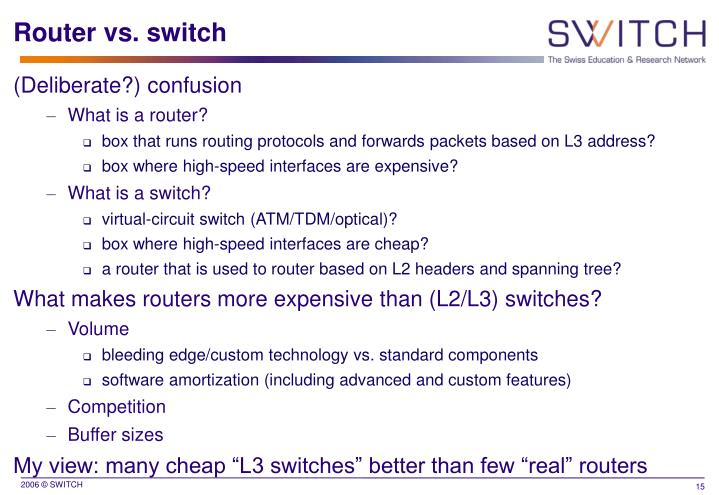Router vs. switch
