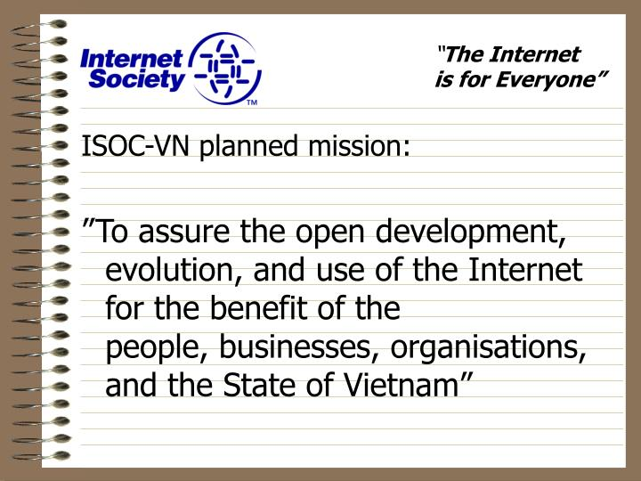 ISOC-VN planned mission: