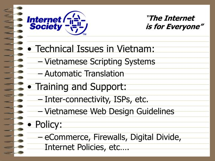 Technical Issues in Vietnam: