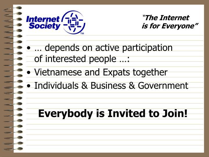 … depends on active participation