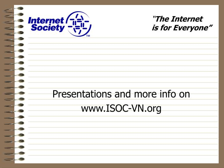 Presentations and more info on