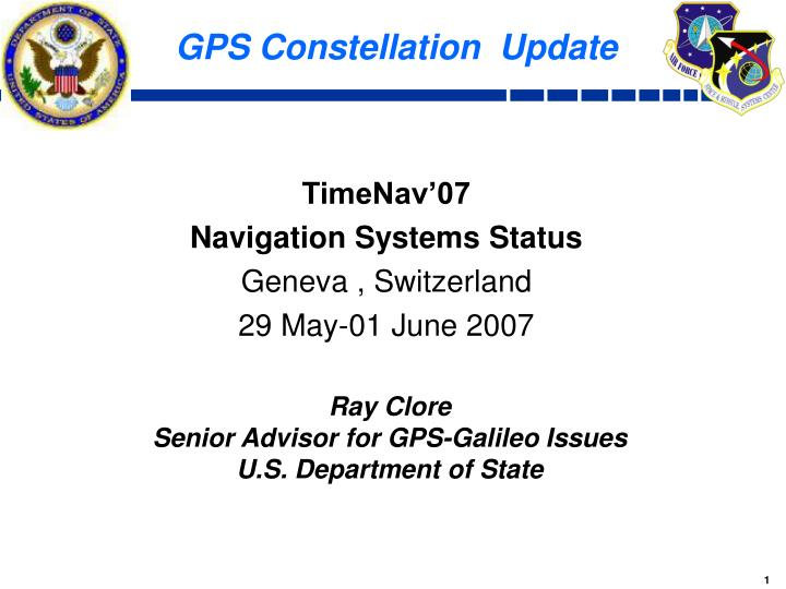 Gps constellation update