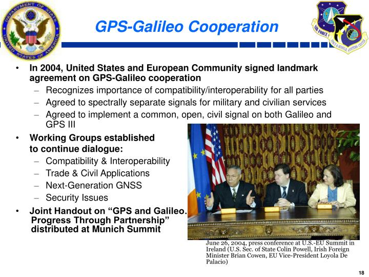 GPS-Galileo Cooperation