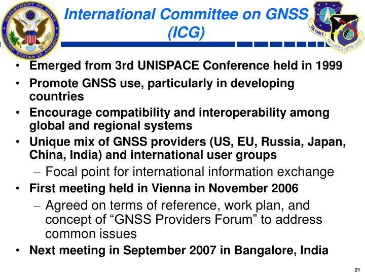 International Committee on GNSS (ICG)