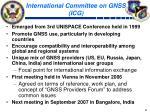 international committee on gnss icg