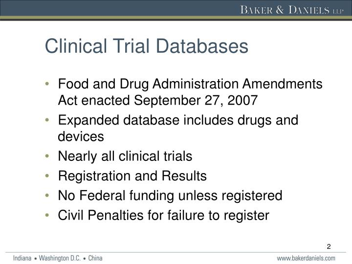 Clinical Trial Databases