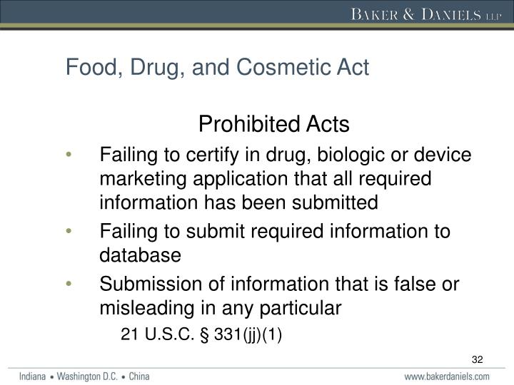 Food, Drug, and Cosmetic Act
